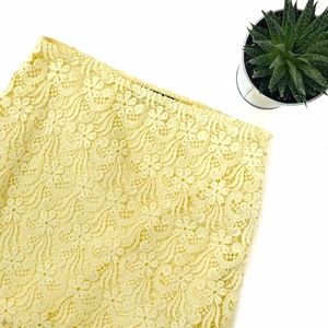 Zara Yellow Spring Mini Skirt